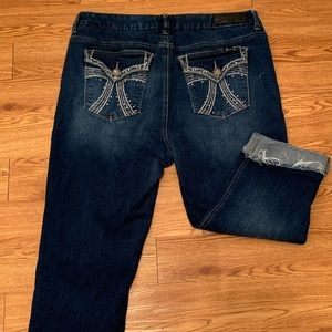 Seven Luxe Capri Jeans with embellished pockets